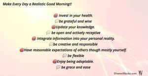 Realistic Good Morning